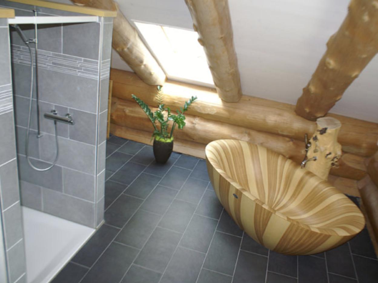 Badezimmer mit unserer Fussbodenheizung